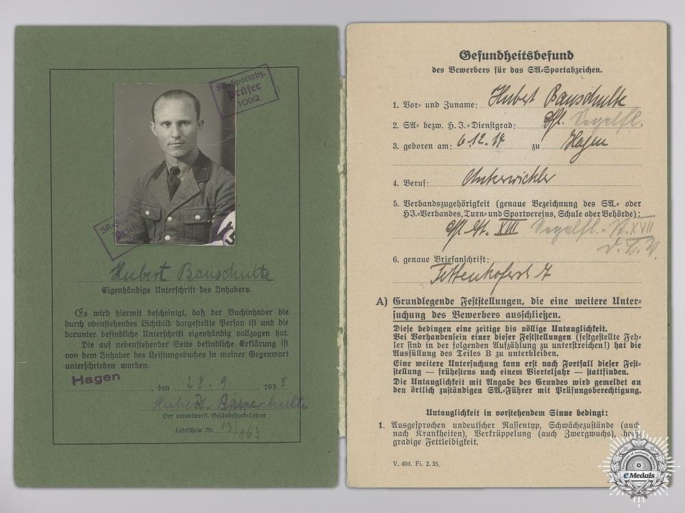 A Fine Grouping to a Stuka Pilot, Silver Goblet & DKG Winner