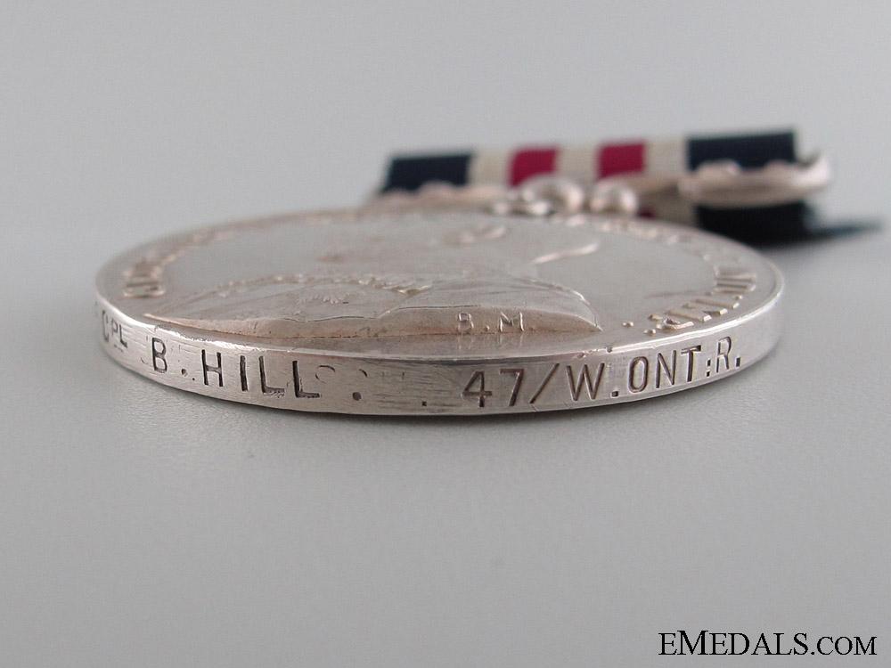 A 47th Battalion Great War M.M. - Killed by Sniper