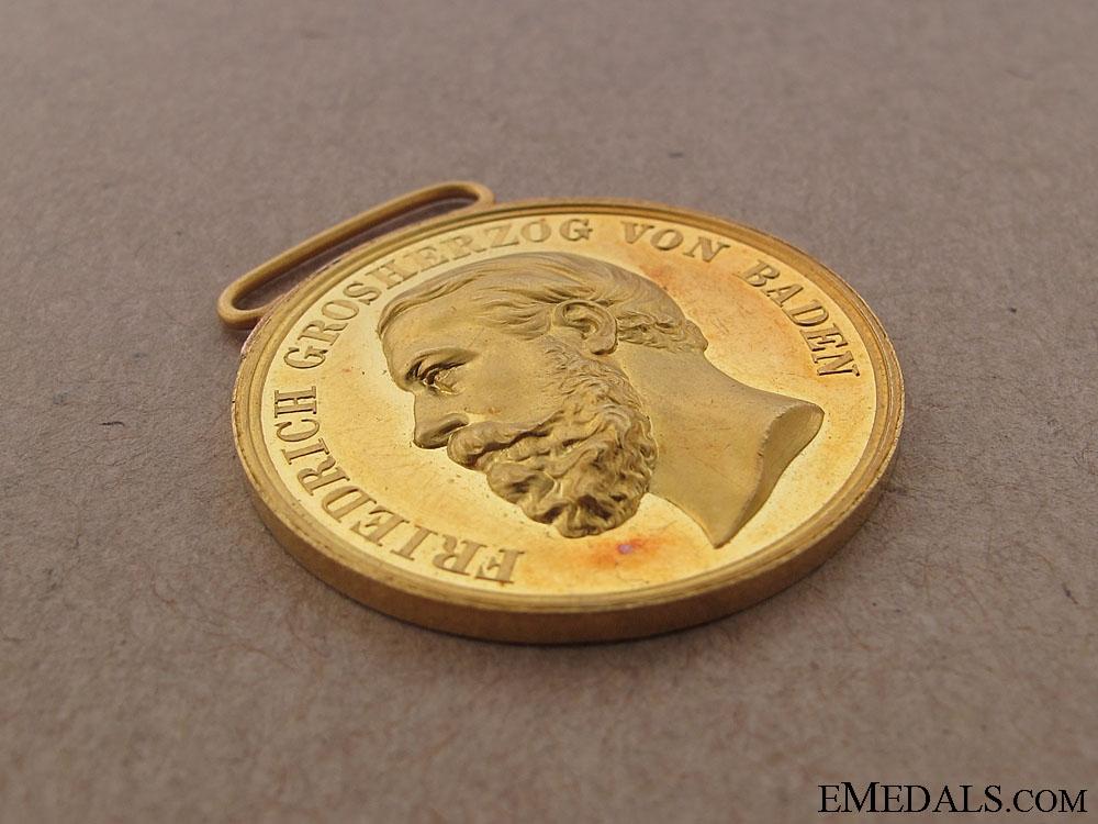 A Rare Gold Friedrich I. Merit Medal