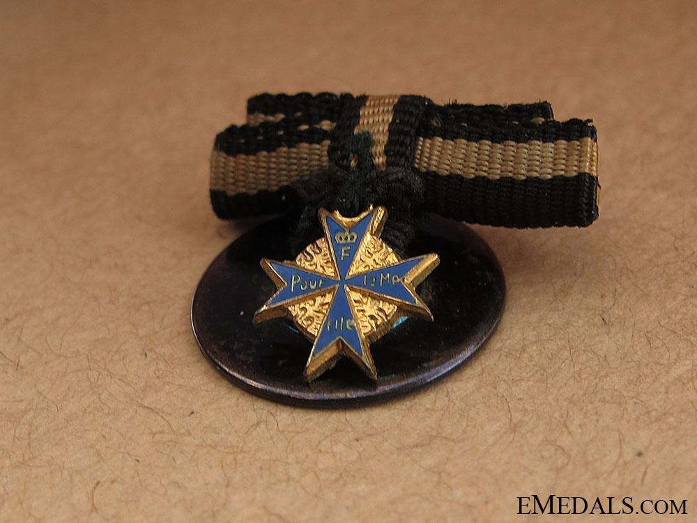 A Fine Miniature Pour-le-Merite