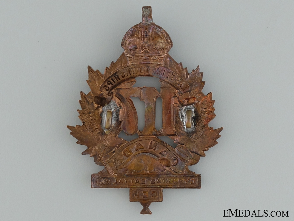 "WWI 117th Battalion ""Eastern Township Battalion"" Cap Badge"
