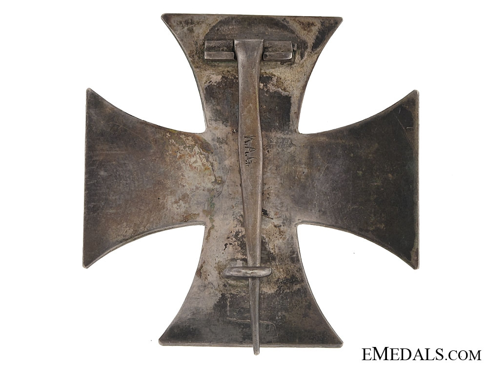 Iron Cross First Class 1914 – marked K.A.G.
