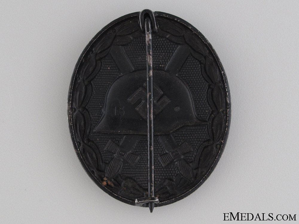Black Grade Wound Badge - Marked