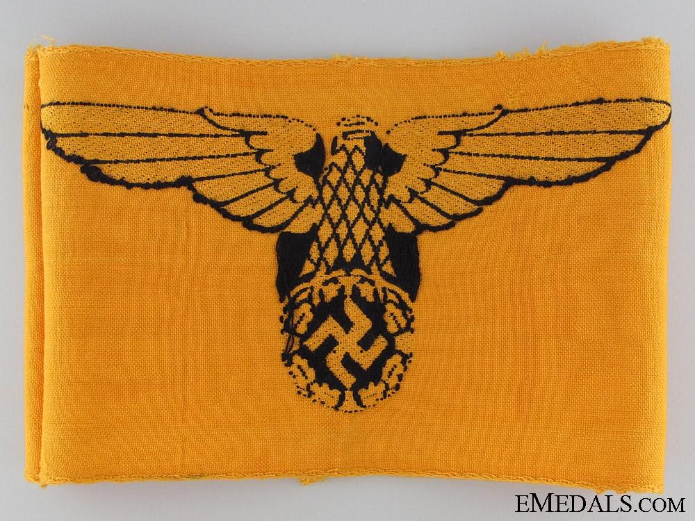 WWII German Civil Service Cotton Armband
