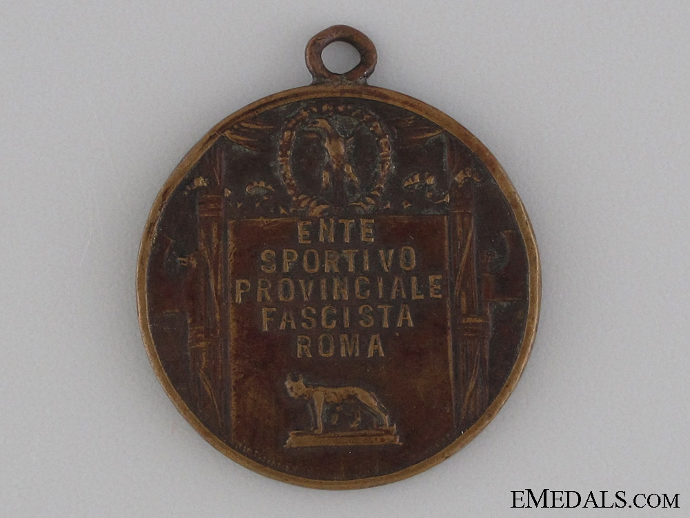 National Fascist Party Sport Agency in Rome Medal
