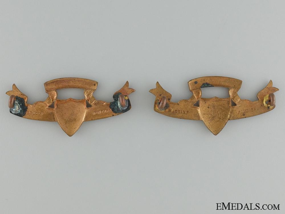 Pre-WWI 49th Hastings Rifles Collar Tab Pair