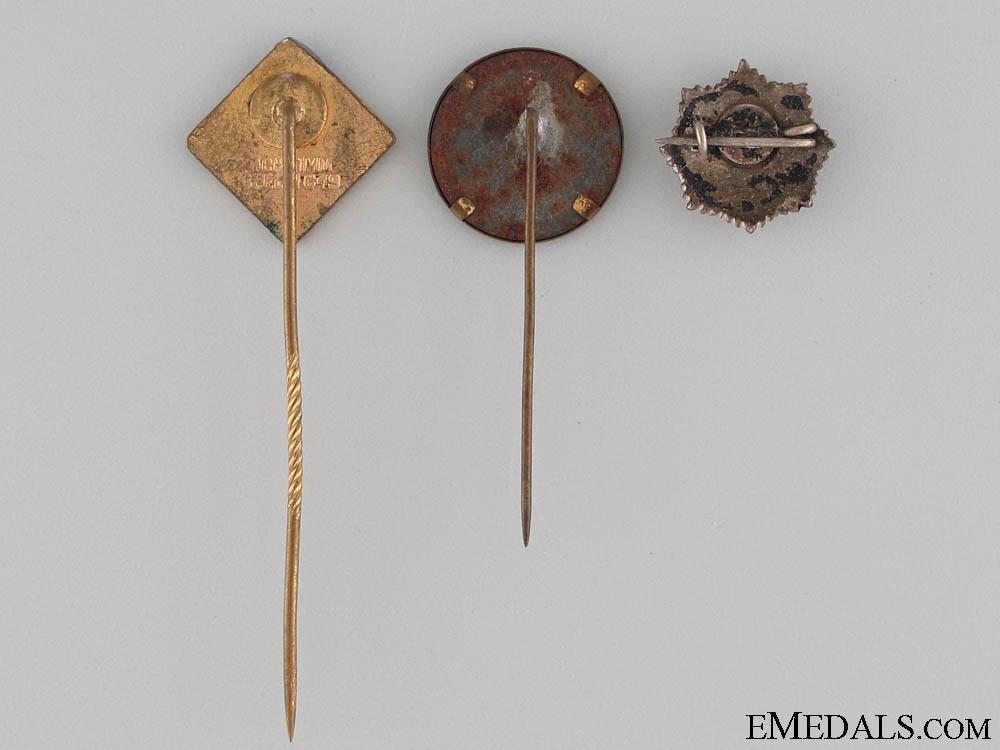 Three Patriotic German Pins