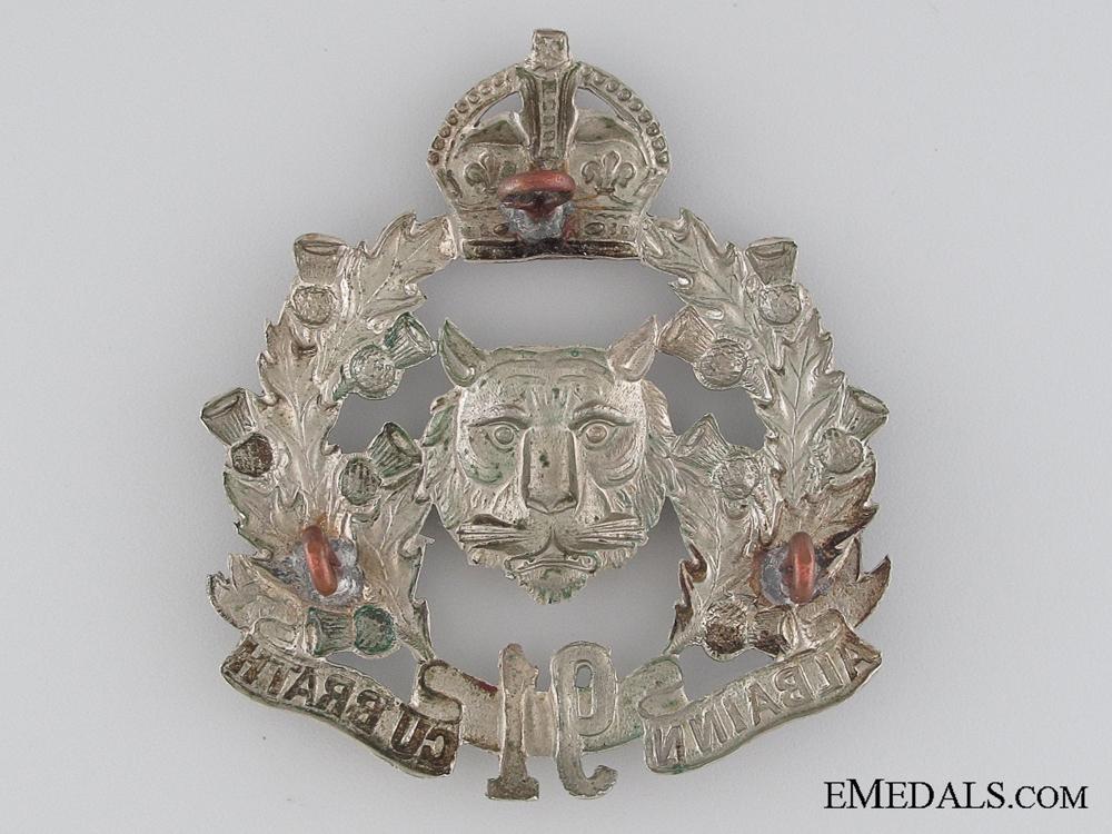 91st Battalion Glengarry Badge