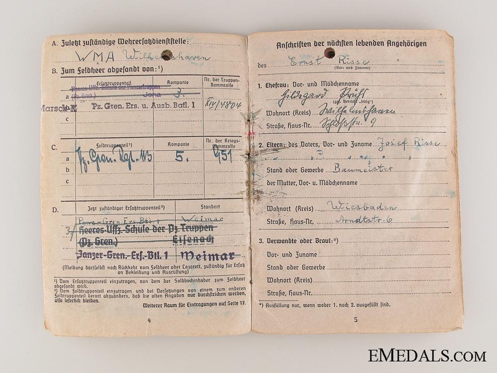Awards & Documents to the 3./panzerGren.- Ers.Btl 1