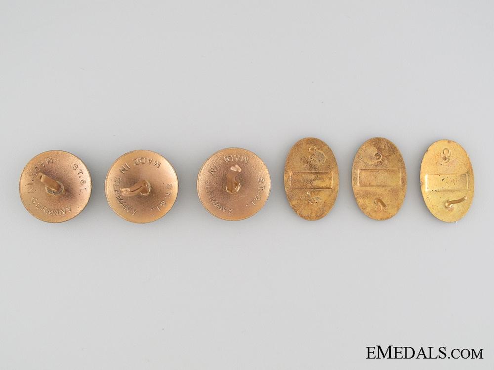 Five WWII Bulgarian Cap Badges