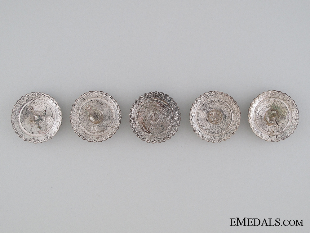 Five Finnish Cap Badges, c. 1941