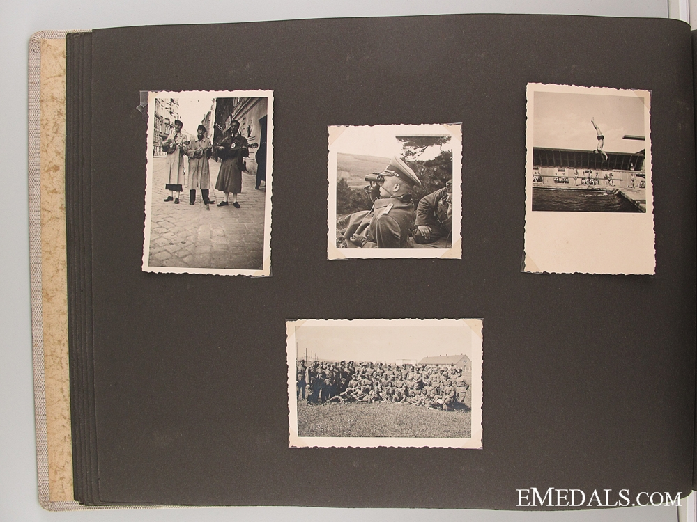 A 1938 Extensive Artillery Album with Edelweiss