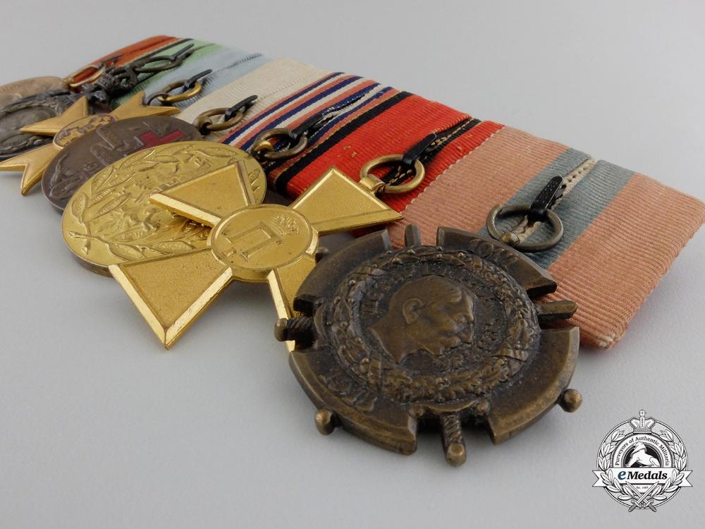 A First War Serbian Medal Bar of Seven