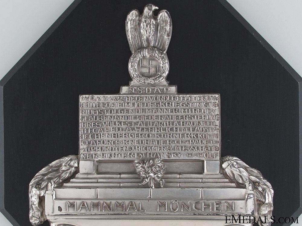 NSDAP-Mahnmal München Plaque