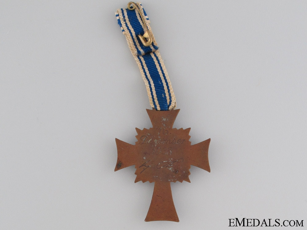 Mother's Cross, Bronze Grade