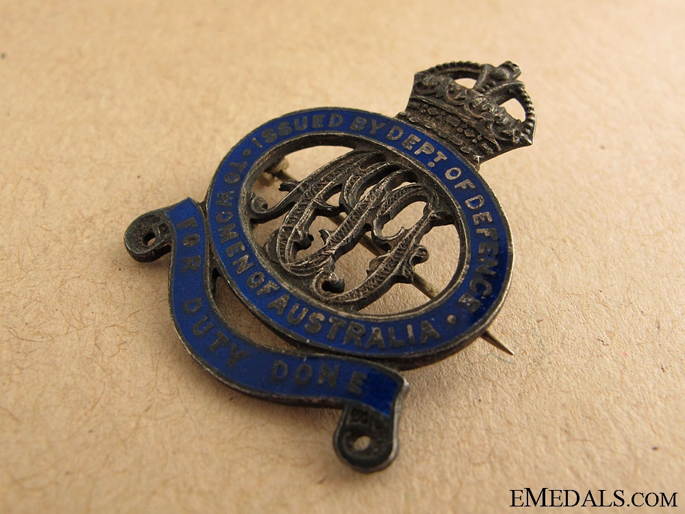 WWI Women of Australia Badge