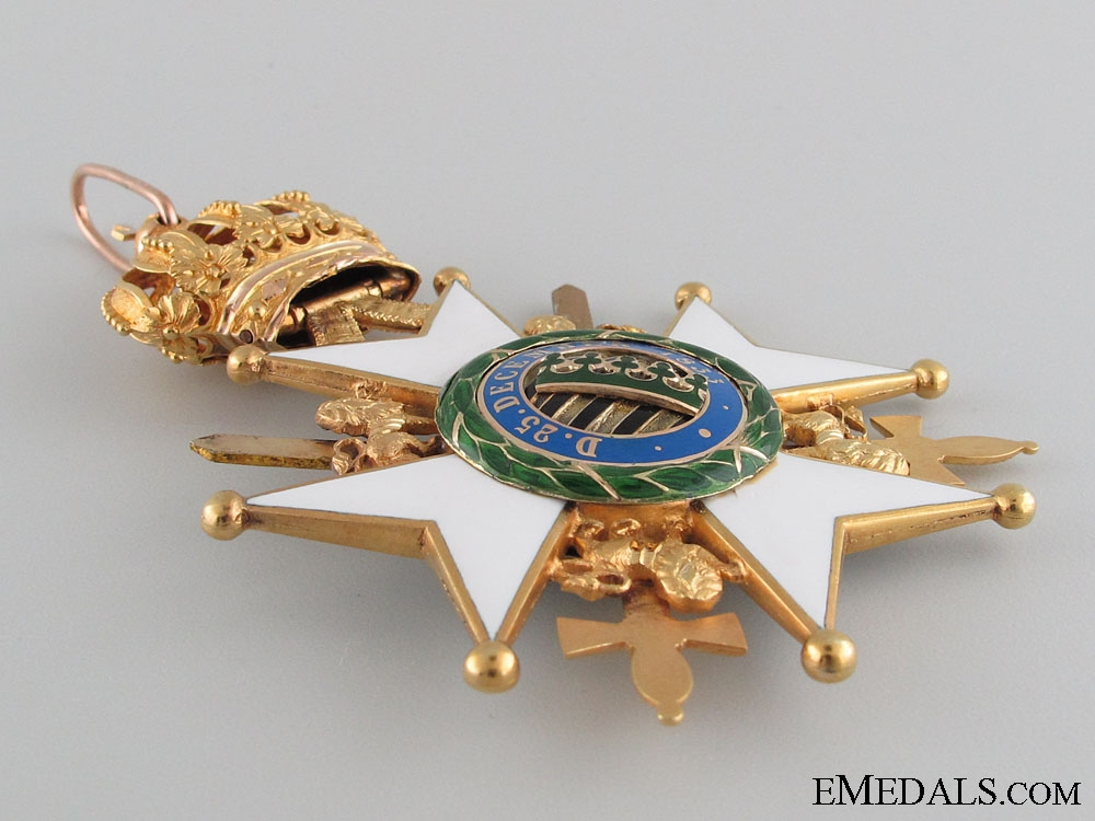 Saxe-Ernestine House Order in Gold - Commander's Cross
