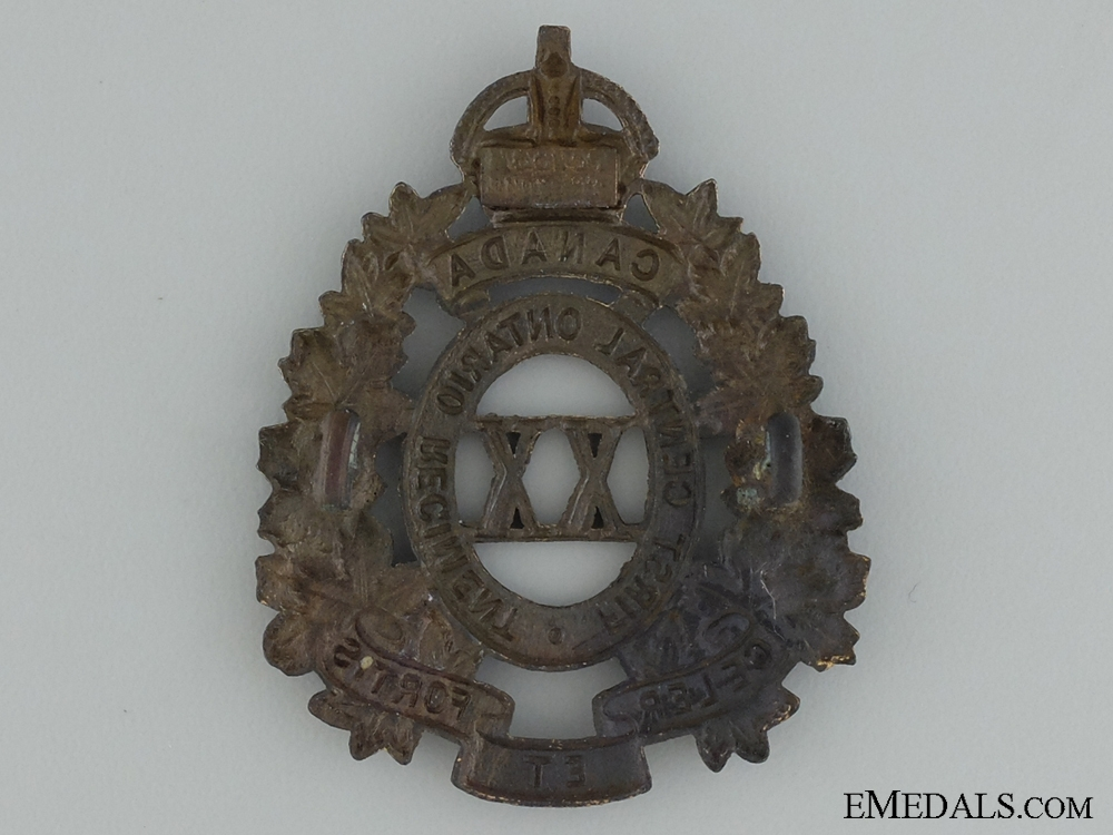 WWI 20th Infantry Battalion Cap Badge; 2nd Version