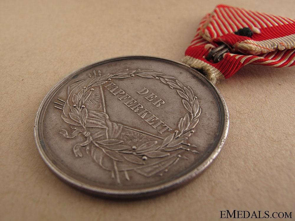 Silver Bravery Medal 1St. Cl. 1859-1866
