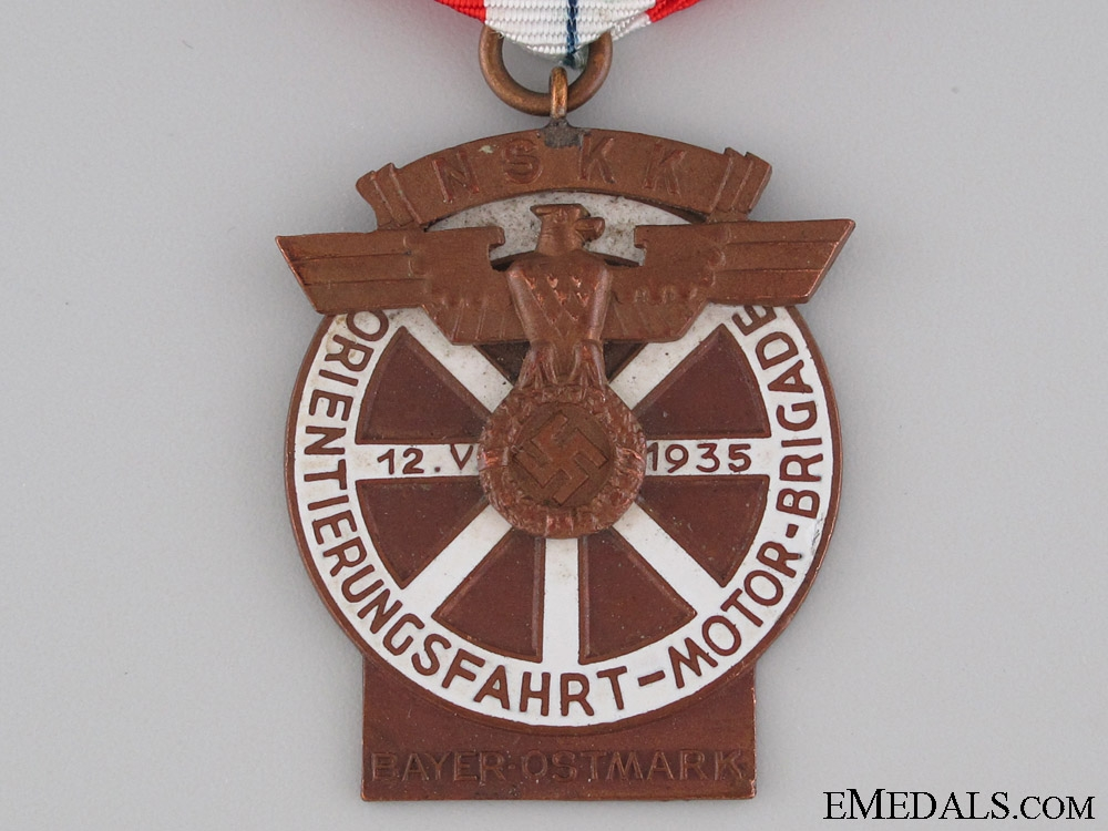 NSKK Bayer-Ostmark Motor Brigade Medal 1935