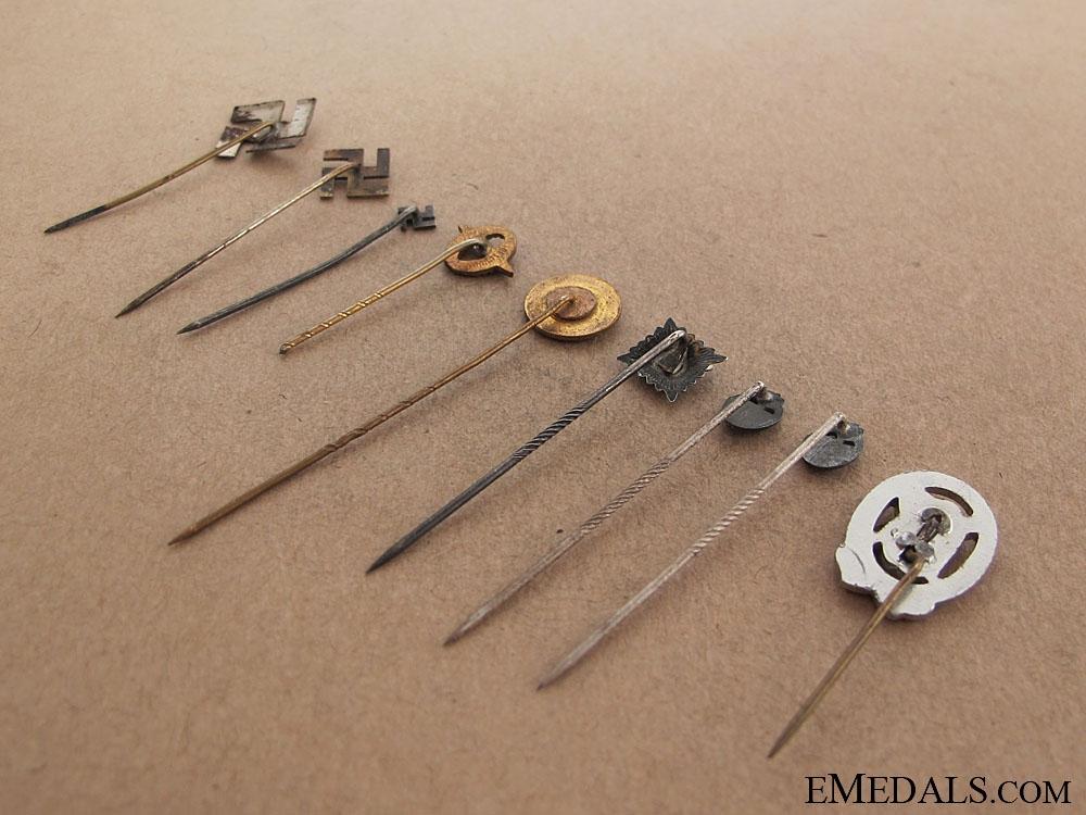 Nine German Stickpins