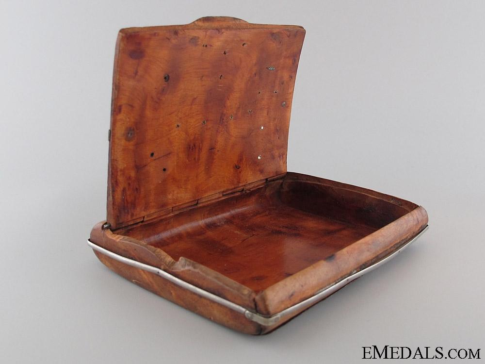 WWI Austrian Veteran's Wooden Cigarette Case