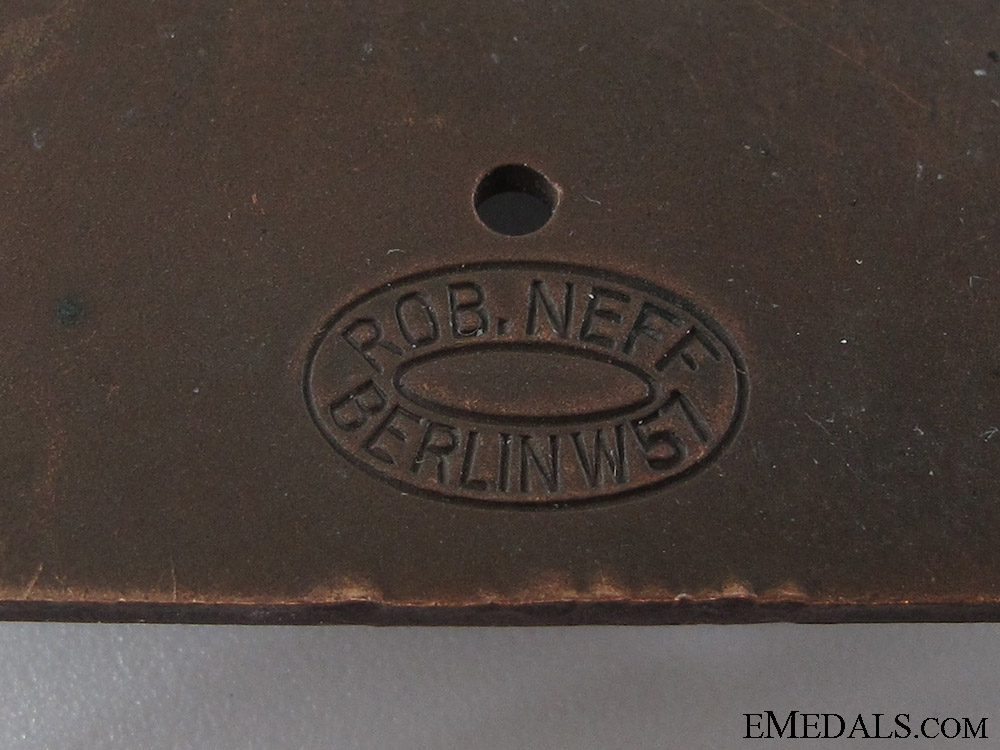 Bronze Stahlhelm Berlin Plaque