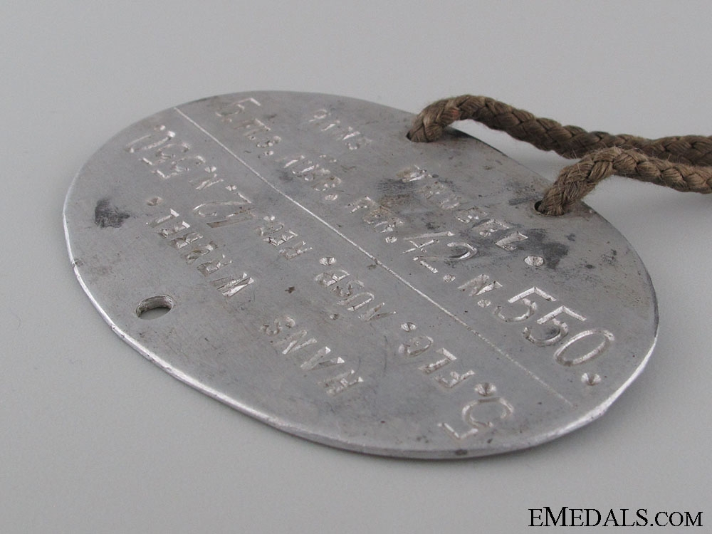 WWII German Identification Tag