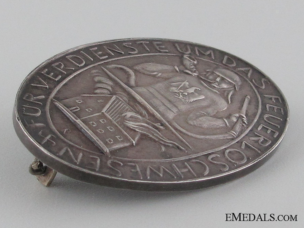 Prussian Fireman's Honor Badge 1934-36