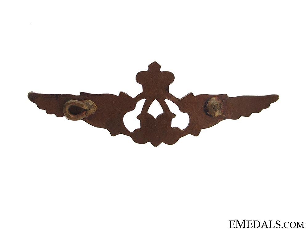 WWI Belgian Pilot's Side Cap Wings 1915-1917