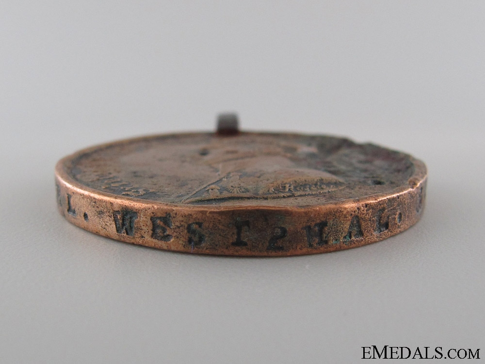 1815 Brunswick Waterloo Medal to the 3. TAEG. BAT.
