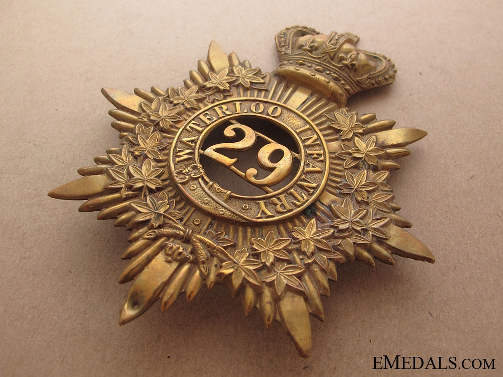 29th Waterloo Battalion of Infantry Helmet Plate