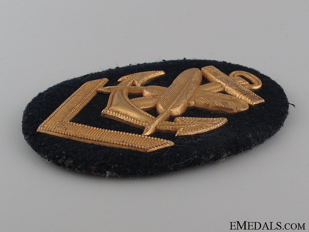Kreigsmarine Clerical NCO's Sleeve Badge