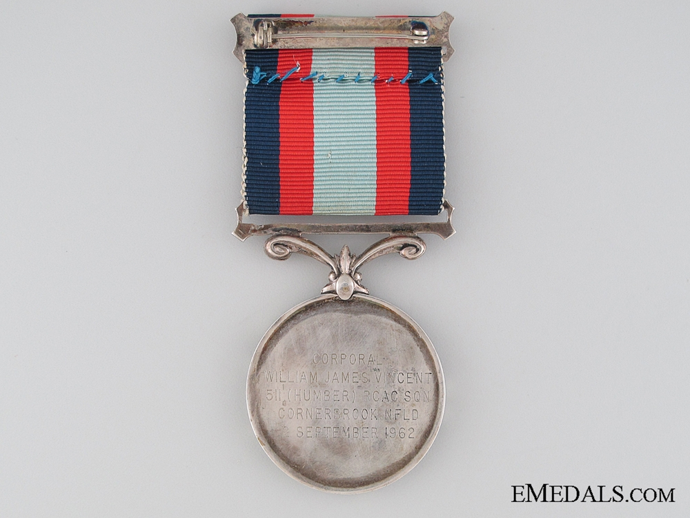 A Rare Canadian Cadet Medal for Bravery on the Tickle River 1962