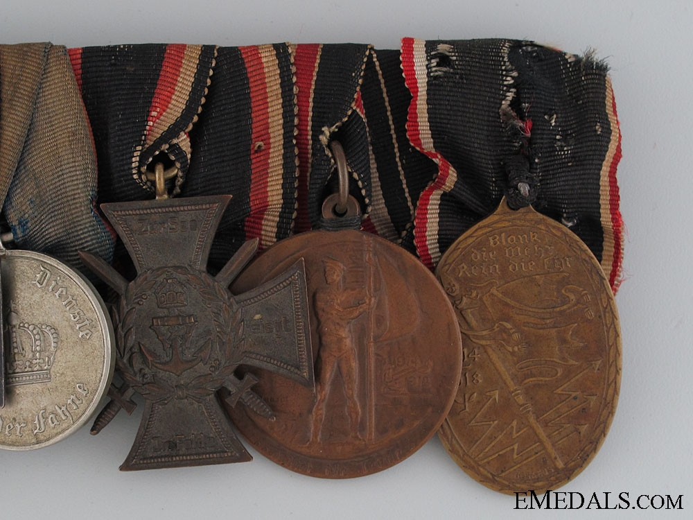 An Imperial 6 Decoration Medal Bar