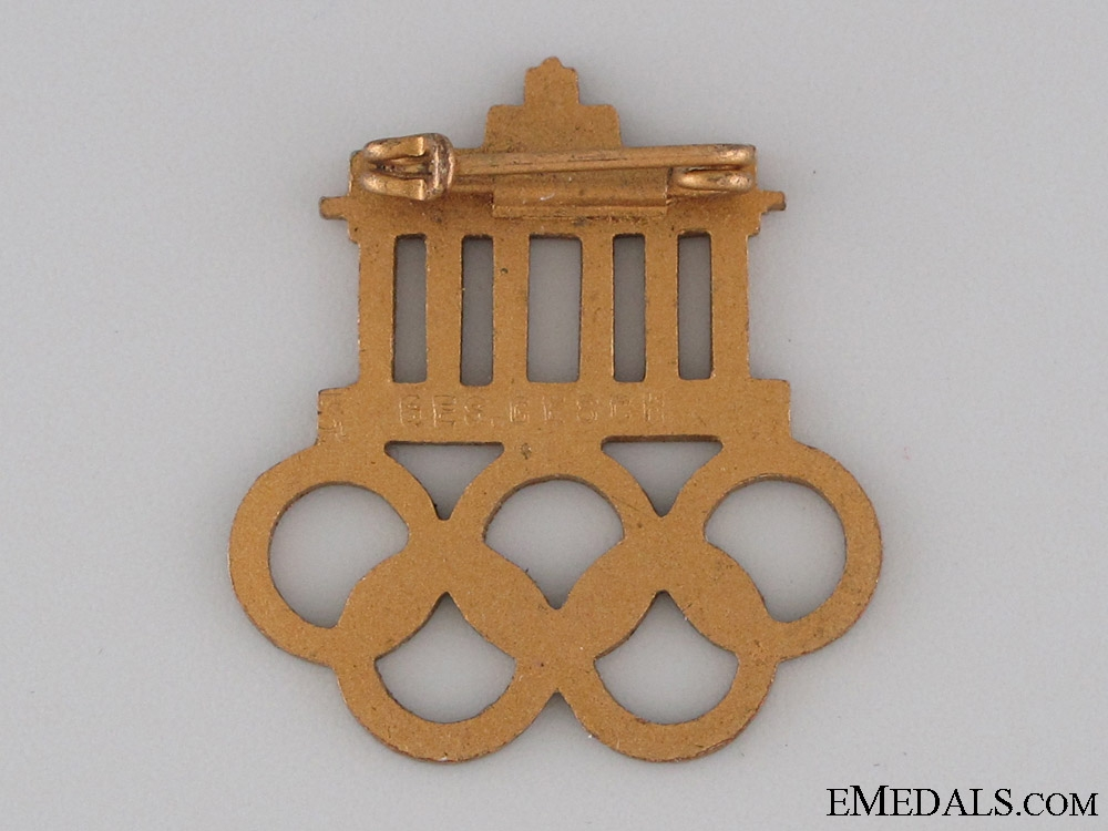 XI Summer Olympic Games Pin 1936