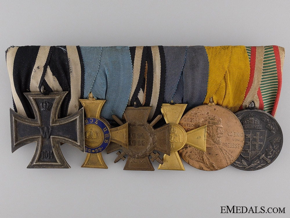 A First War Imperial German Medal Bar