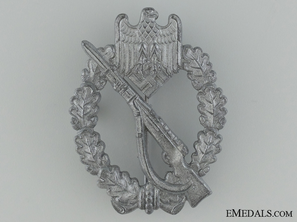 Infantry Badge, Silver Grade, by Maker L/56