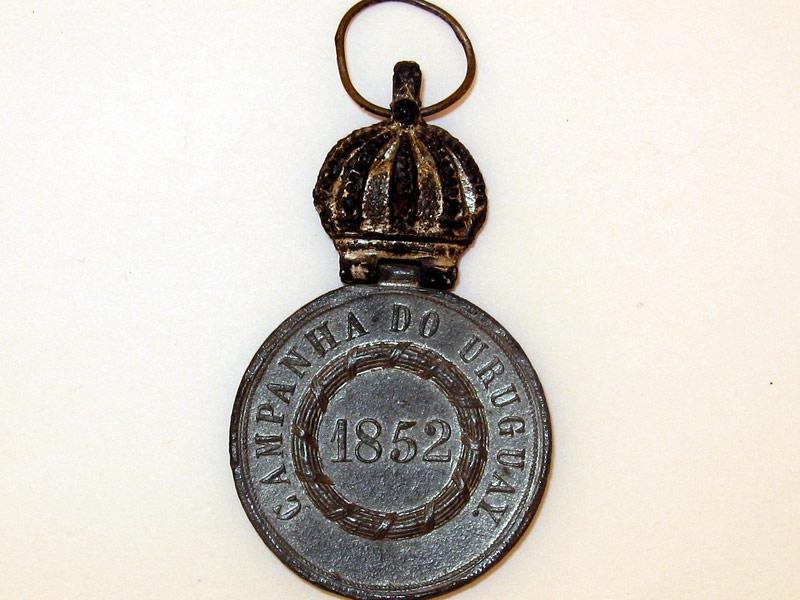 Brazil, Medal for Uruguay, 1852,