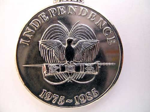 PAPUA NEW GUINEA,  INDEPENDENCE MEDAL 1975-85