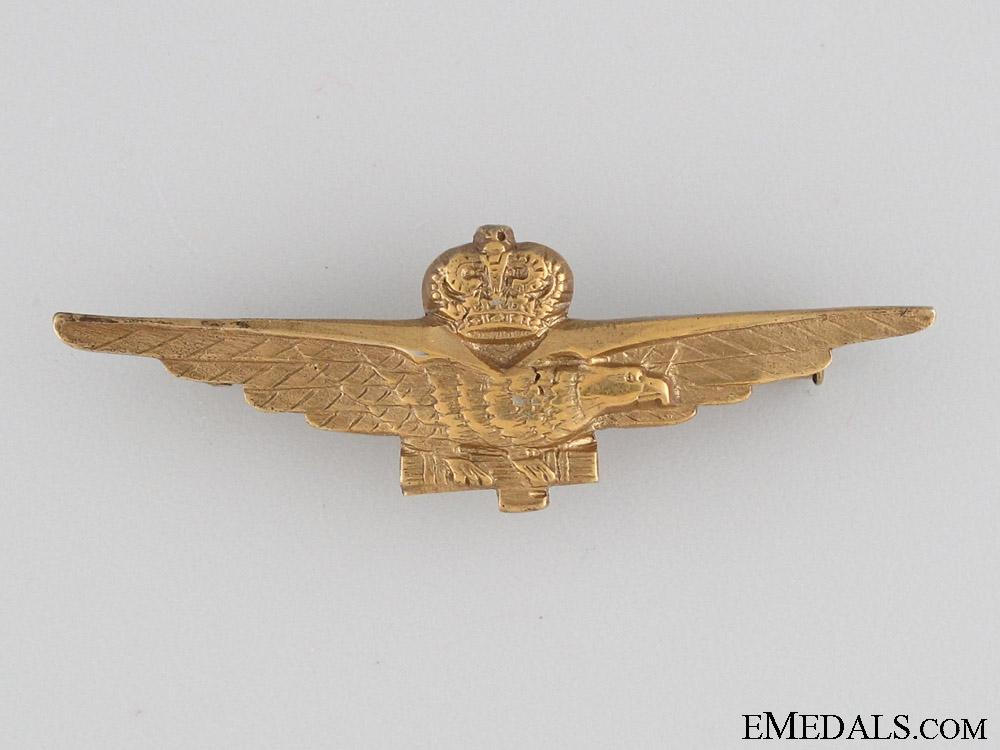 Italian Pilot's Badge in 835 Silver