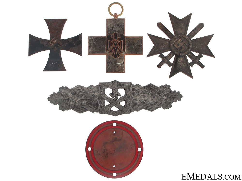 Items Recovered from the  Zimmermann Factory