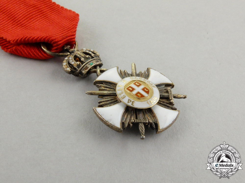 A Miniature Serbian Order of the Star of Karageorge