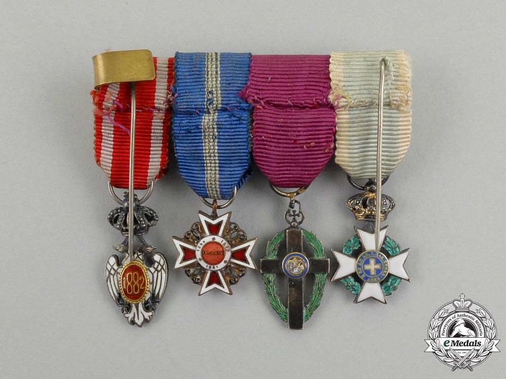 A First War Greek Officer's Miniature Group