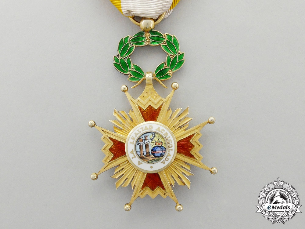 A Spanish Order of Isabella the Catholic, Knight's Cross in Gold