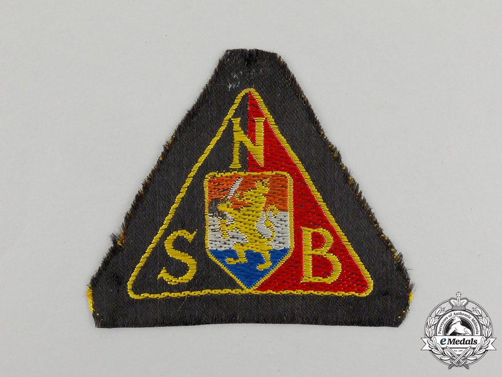 A NSB National Socialist Movement in the Netherlands Black Shirts Sleeve Patch