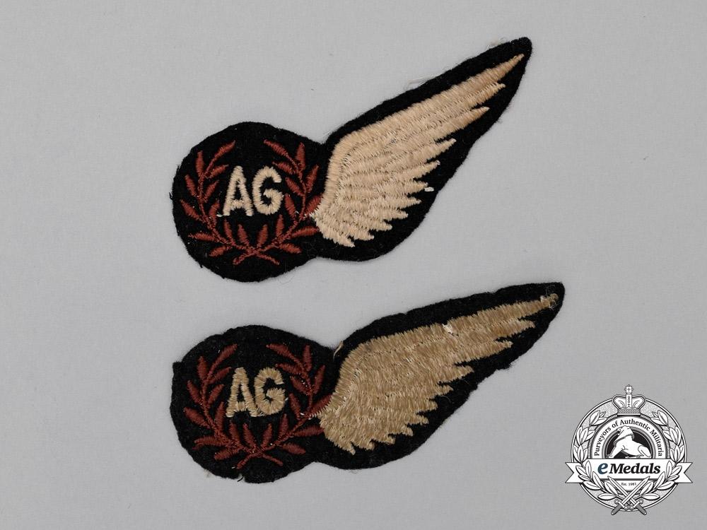 Two Second War Royal Air Force (RAF) Air Gunner (AG) Wings