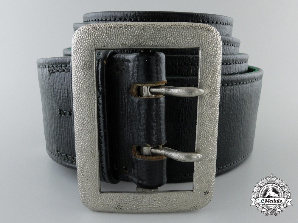 A German State Forestry Official's Belt with Buckle