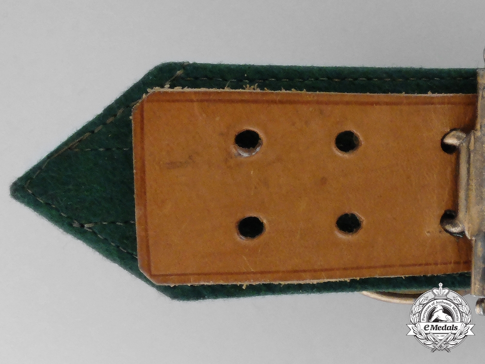 A German National Forestry Service Official's Brocade and Buckle for Oberlandforsmeister