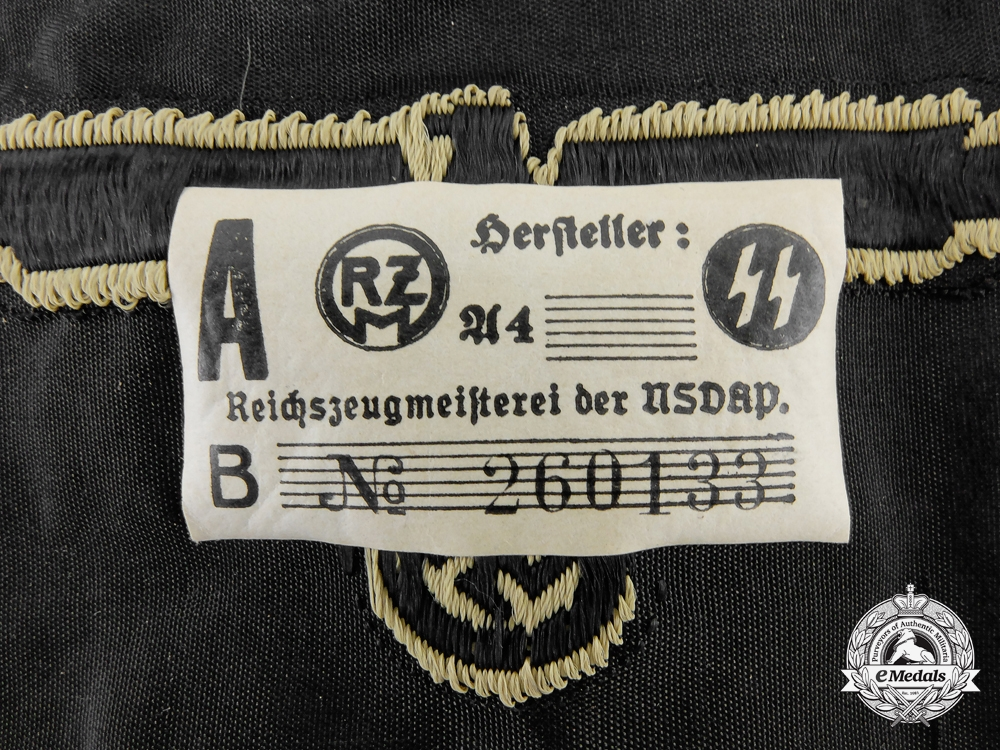 An SS Tropical Sleeve Insignia with RZM Label